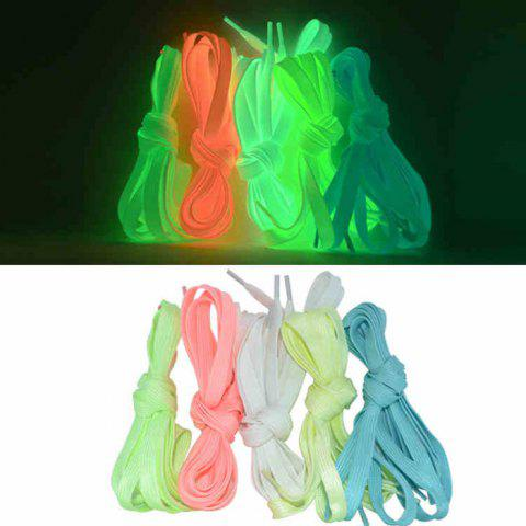 Affordable Creative LED Fluorescent Shoelaces Funny Luminous Yarn Shoes Laces- 80cm - WHITE  Mobile