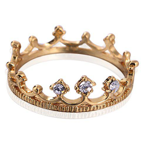 Best Rhinestone Crown Shape Ring - ONE-SIZE WHITE Mobile
