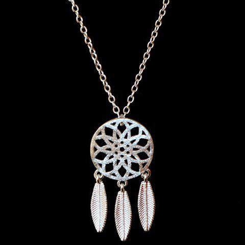 Affordable Trendy Solid Color Dream Catcher Necklace