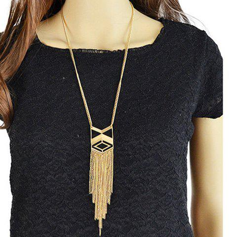 Latest Vintage Geometric Hollow Out Sweater Chain GOLDEN