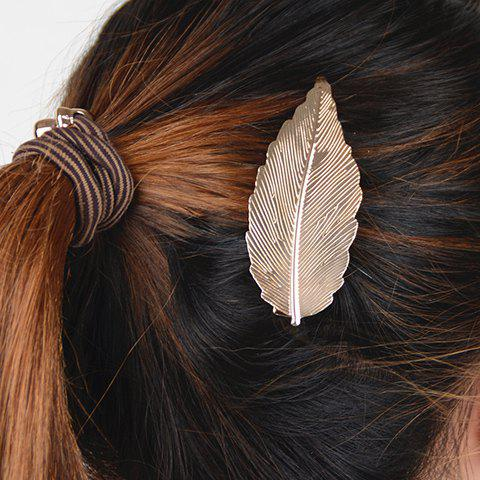 Fashion Stunning Pure Color Leaf Shape Hairgrip For Women