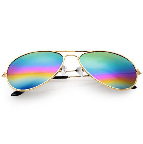 Unique Cool Summer Metal Teardrop Color Mirrors Frog Film Unisex Sunglass
