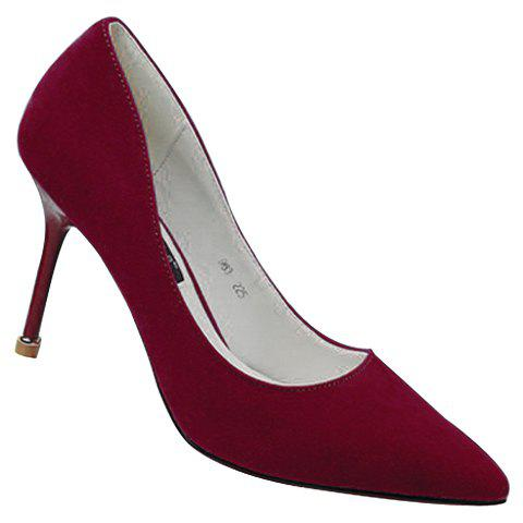 Unique Office Style Pure Colour and Stiletto Heel Design Women's Pumps