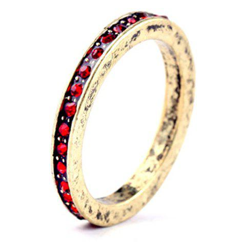 Chic Charming Faux Crystal Round Ring For Women
