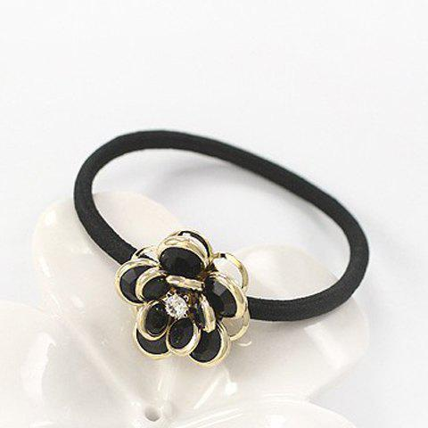 Unique Simple Style Faux Crystal Rhinestone Floral Elastic Hair Band For Women