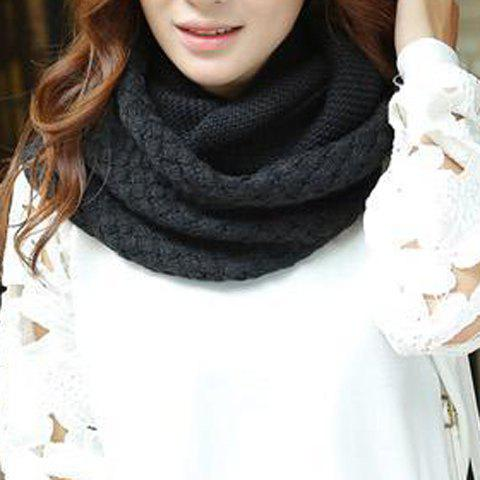 Chic Chic Solid Color Crocheting Knitted Infinity Chunky Scarf For Women
