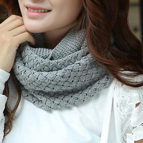 Store Chic Solid Color Crocheting Knitted Infinity Chunky Scarf For Women