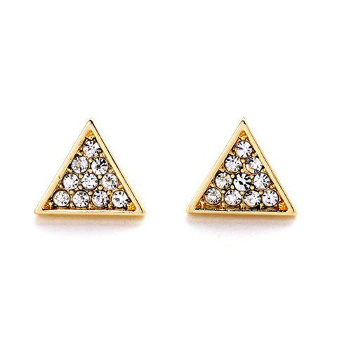 Latest Pair of Cute Faux Crystal Triangle Shape Stud Earrings For Women