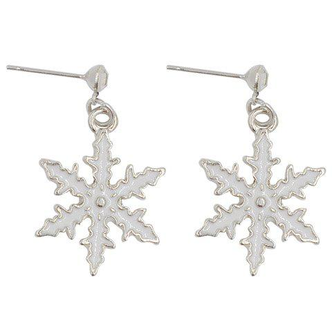 New Pair of Cute Snowflake Christmas Earrings Jewelry For Women