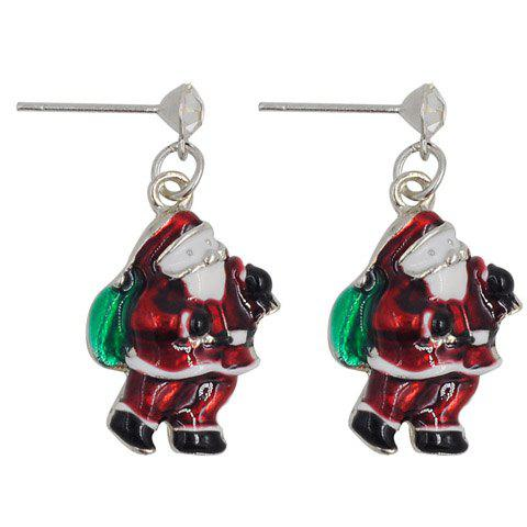 Trendy Pair of Cute Santa Claus Shape Christmas Earrings Jewelry For Women