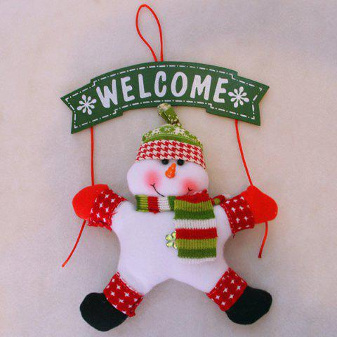 Quality Welcome Board Sign with Hanging Snowman Doll For Wall Door Ornament Christmas Decoration 159972401