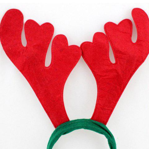 Outfit Chic Antler Shape Hairband Christmas Decoration - RED AND GREEN  Mobile