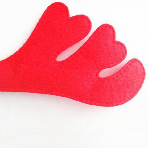 Online Chic Antler Shape Hairband Christmas Decoration - RED AND GREEN  Mobile