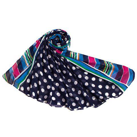 Chic Polka Dot and Stripe Pattern Voile Scarf For Women от Rosegal.com INT