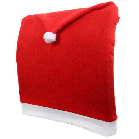 Store Santa Claus Hat Chair Back Cover for Christmas Dinner Decoration Cap - 1PCS RED Mobile