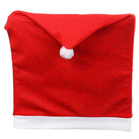 Shop Santa Claus Hat Chair Back Cover for Christmas Dinner Decoration Cap - 1PCS RED Mobile