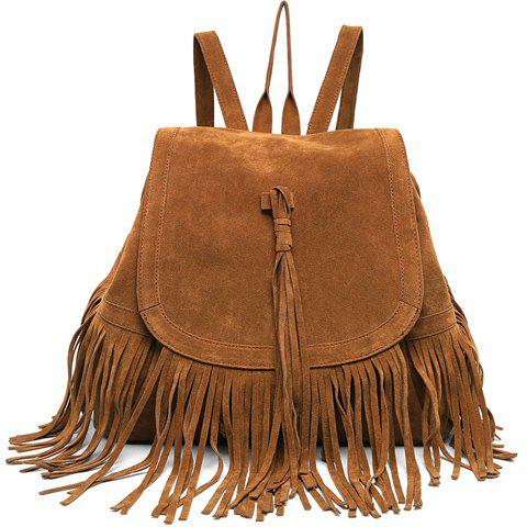 Cheap Trendy Fringe and Solid Color Design Women's Satchel