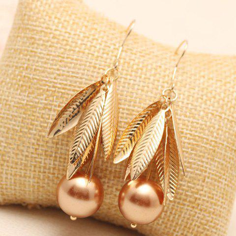 New Pair of Stunning Bead Leaf Drop Earrings For Women