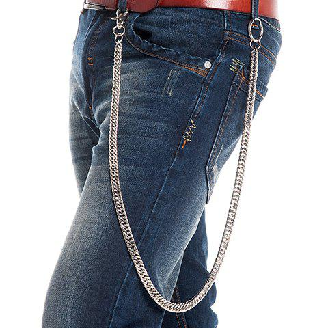 Shops Stylish Simple Overlong Silver Trouser Chain For Men - SILVER  Mobile