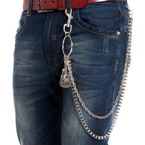 Affordable Stylish Guitar Shape Embellished Two Layered Trouser Chain For Men