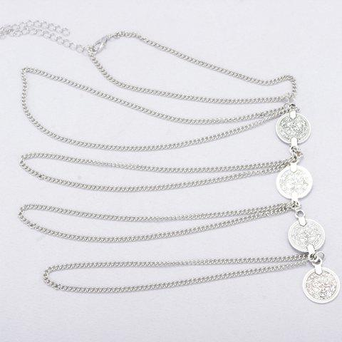 Hot Vintage Round Coin Arm Chain Jewelry - SILVER  Mobile