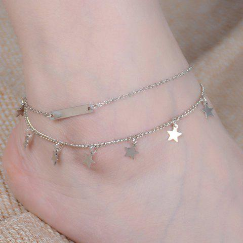 Sale Layered Star Shape Charm Anklet