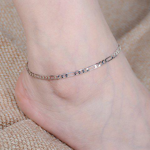 Discount Simple Style Solid Color Chain Fancy Anklets - SILVER  Mobile