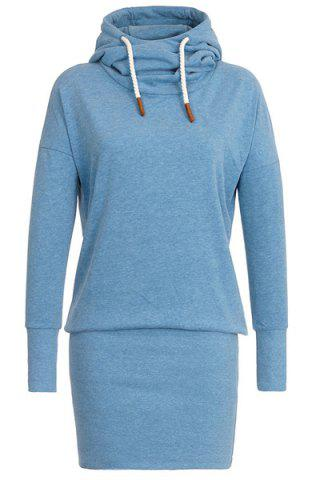 Cheap Stylish Hooded Long Sleeve Women's Hoodie Dress