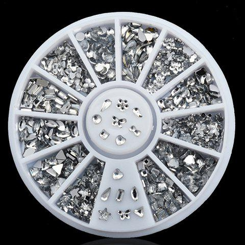 Hot One Box Chic Various Shape Rhinestone DIY Nail Art Decoration