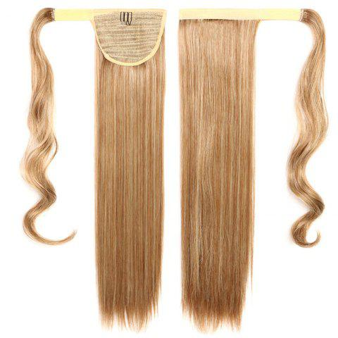 Sale Fashion Mixed Color Capless Stunning Long Silky Straight Synthetic Ponytail For Women