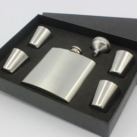 Buy Portable 6oz Stainless Steel Solid Color Flask Alcohol Flagon + 4 Cups + Hopper Set