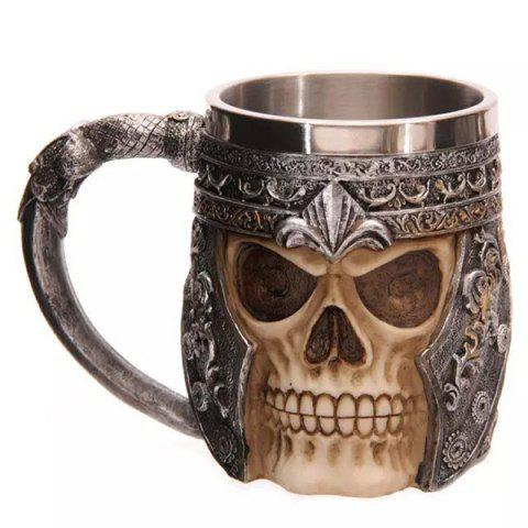 Cool Skull Design Stainless Steel Coffee Tea Cup 400ml