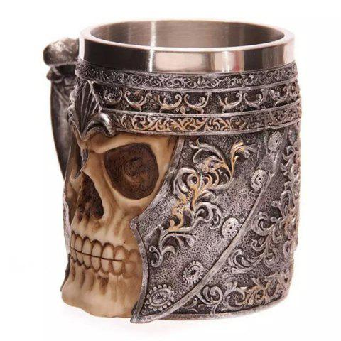 Outfit Cool Skull Design Stainless Steel 400ml Coffee Tea Cup - BLACK  Mobile