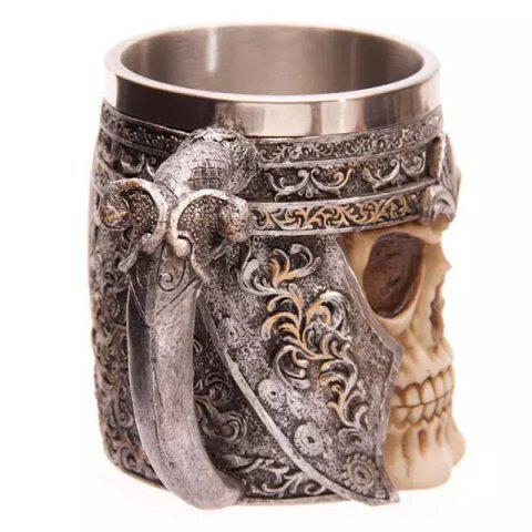 Cheap Cool Skull Design Stainless Steel 400ml Coffee Tea Cup - BLACK  Mobile