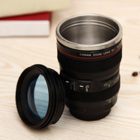 Fancy Creative High Quality Camera Lens Shape Special 300ML Valentine Gift Cup - BLACK  Mobile