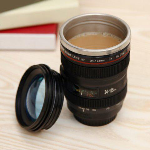 Store Creative High Quality Camera Lens Shape Special 300ML Valentine Gift Cup - BLACK  Mobile