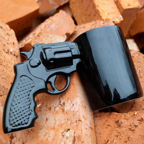 Buy Cool Revolving Pistol Design Black Coffee Tea Cup For Office