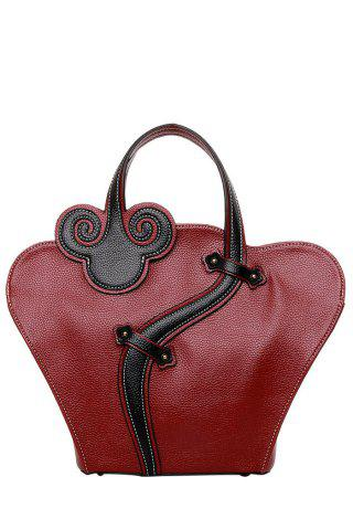 Buy Vintage Cheongsam Shape and Embossing Design Women's Tote Bag