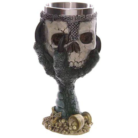 Cool Goblet Cup Skull Shape Design Stainless Steel Cup 200ml