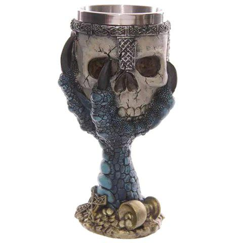 Cool Goblet Cup Skull Shape Design Stainless Steel Cup 200ml 161095903