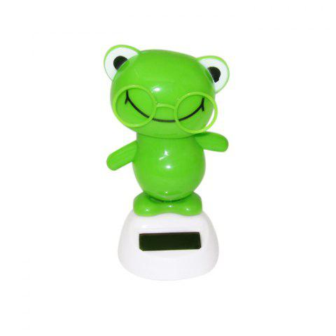 Store Solar Energy Shaking Frog with Glasses House Decoration Christmas Gift