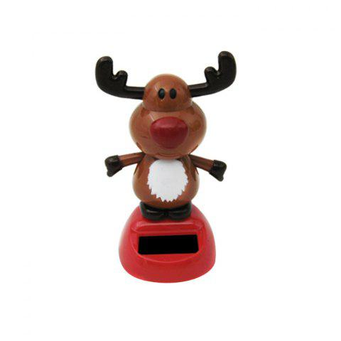 Solar Energy Shaking Cow House Decoration Christmas Gift - COLORMIX
