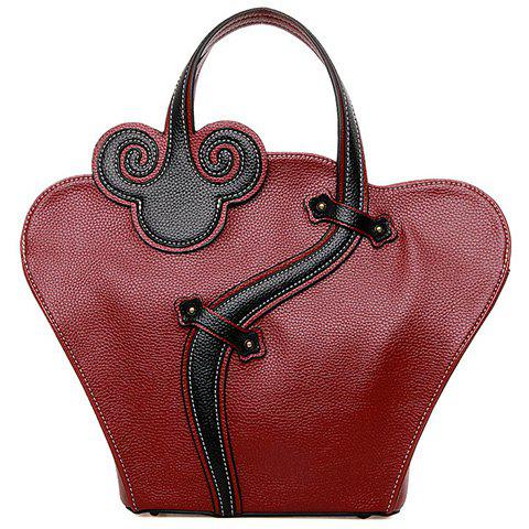 Discount Color Block Handbag