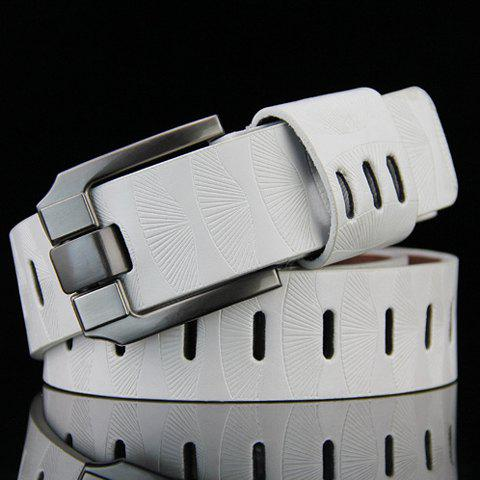 Outfits Stylish Pin Buckle Stripy PU Wide Belt For Men