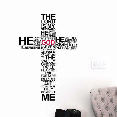 Trendy New Removable Cross Words Composing Wall Stickers For Living Rooms