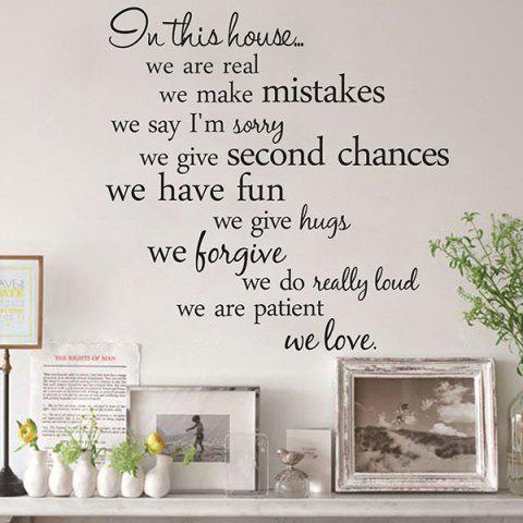 Shop Creative Removable Proverbs In This House 55.8*55.8cm Wall Stickers For Homes