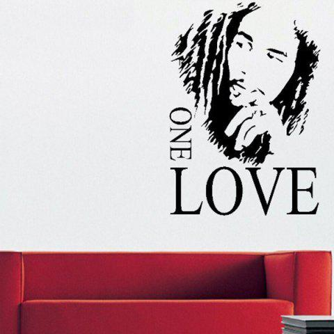 Best Creative Figure Letters One Love 43*61cm Wall Stickers For Home Decoration BLACK