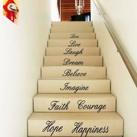 Shops Creative 58*186cm Letters Love Live Hope Wall Stickers For Homes