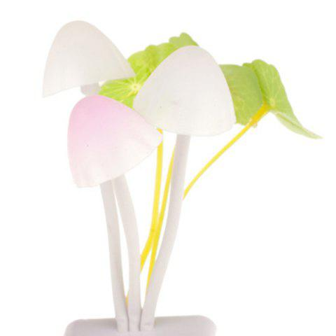 Hot Romantic Colorful Ombre Fashion Sensor LED Lotus Leaf Decor Mushroom Night Light - WHITE  Mobile