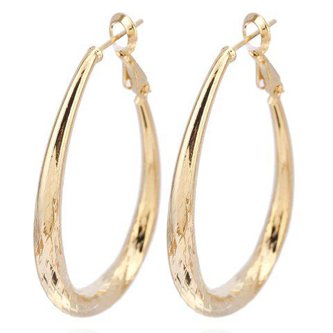 Shop Pair of Vintage Engraved Oval Earrings GOLDEN